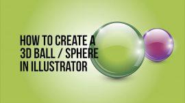 3d ball sphere in Adobe Illustrator
