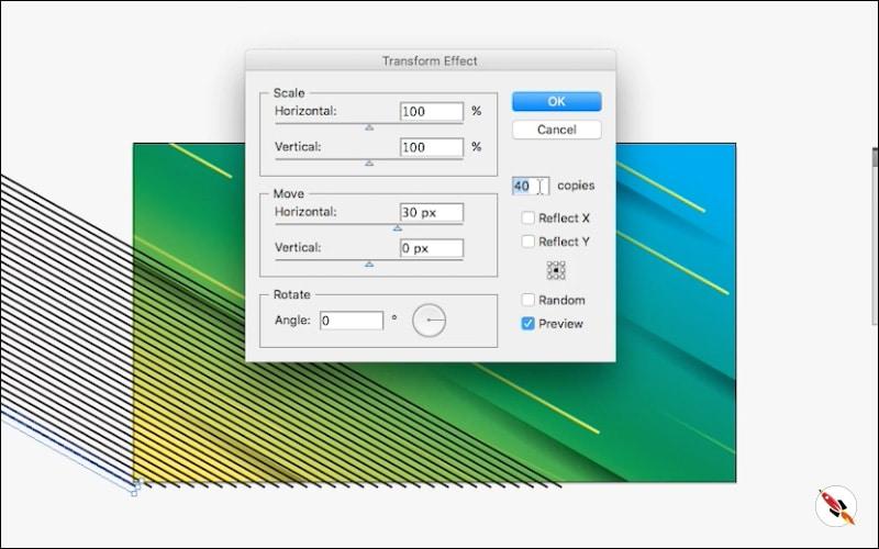 transform multiple times | Illustrator tutorial | Deeptuts