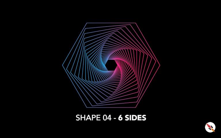 6 Sided Polygon shape