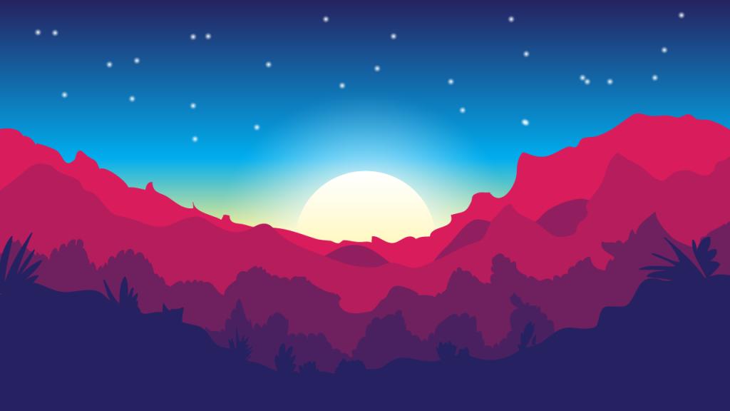 Beautiful Landscape Illustrator tutorial